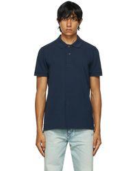 Tom Ford ネイビー ポロシャツ - ブルー