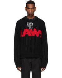 CALVIN KLEIN 205W39NYC ブラック Jaws セーター