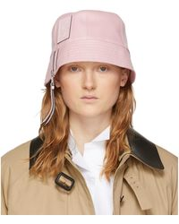 Loewe Pink Leather Bucket Hat - Multicolour
