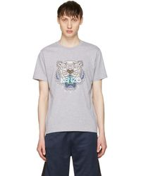 KENZO - Grey Tiger T-shirt - Lyst