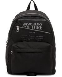 Versace Jeans Couture ブラック & シルバー Warranty バックパック