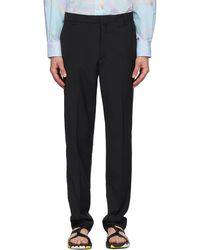 Maison Kitsuné Black Large Tailored Pants