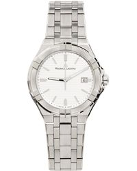 Maurice Lacroix シルバー & ホワイト Aikon Automatic 腕時計