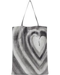 Acne Studios - Ben Quinn エディション ホワイト & ブラック Oilcloth Heart トート - Lyst