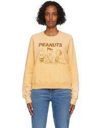RE/DONE Peanuts エディション イエロー Peanuts Happiness スウェットシャツ - マルチカラー