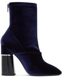 3.1 Phillip Lim - Blue Velvet Kyoto Boots - Lyst