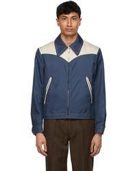 Second/Layer Blue & Beige Perkins Jacket