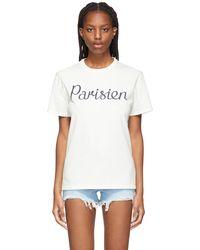 Maison Kitsuné オフホワイト Parisien Classic T シャツ