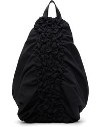 Yohji Yamamoto ブラック Shirring バックパック