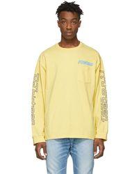 R13 T-shirt a manches longues jaune Sunset Surf