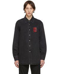 Raf Simons Black Denim Regular Fit Shirt