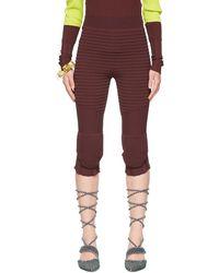 Kiko Kostadinov Burgundy Elspeth Capri Shorts - Purple