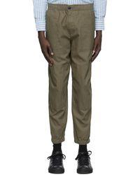 Rag & Bone Zac Field Linen Pant Relaxed Fit Pant - Green