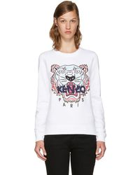 KENZO - White Limited Edition Tiger Sweatshirt - Lyst