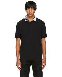 Moschino ブラック Symbols ロゴ ポロシャツ