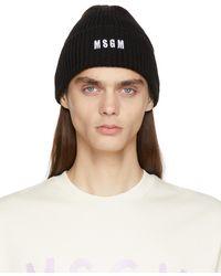 MSGM ブラック ロゴ ビーニー