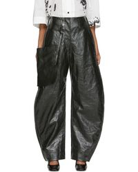 Lemaire - Pantalon chinos enduit vert - Lyst