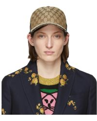 Gucci Beige Original GG Canvas Baseball Cap - Blue
