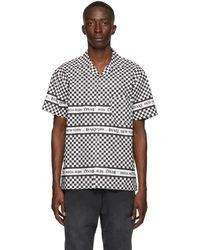 AWAKE NY Black & White Checkerboard Logo Short Sleeve Shirt