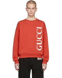 Gucci - レッド ロゴ スウェットシャツ - Lyst