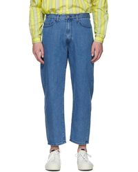 Sunnei Blue Washed Classic Jeans