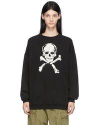 R13 ブラック オーバーサイズ Skull セーター