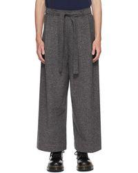 Naked & Famous Pantalon Nep Jazz gris exclusif à SSENSE