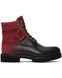 Marcelo Burlon - Red And Black Timberland Edition Nubuck Boots - Lyst