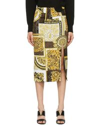 Versace - ゴールド Pattern スカート - Lyst