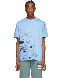 A_COLD_WALL* - * ブルー Blueprint T シャツ - Lyst