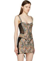 Miaou Débardeur de style corset Deville multicolore