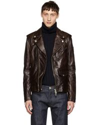 Belstaff - Burgundy Leather Sidmouth Jacket - Lyst