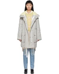 Army by Yves Salomon Reversible Grey Padded Parka