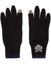 KENZO - Knit Gloves - Lyst