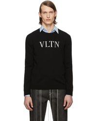 Valentino ブラック Vltn クルーネック セーター