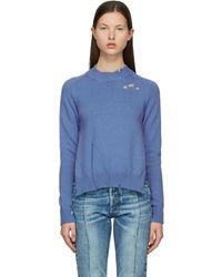 Maison Margiela - ブルー Destroyed セーター - Lyst