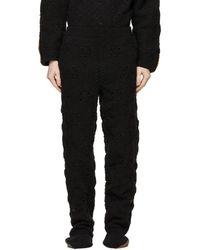 Doublet - ブラック Hand-crochet Bear スウェットパンツ - Lyst