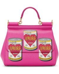 Dolce & Gabbana - Pink Medium Amore Energy Cans Bag - Lyst