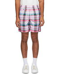 Noah Adidas Originals Edition マルチカラー チェック ショーツ