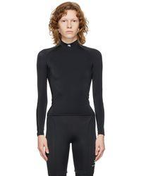 Balenciaga ブラック Fitted モックネック ロング スリーブ T シャツ