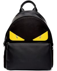 Fendi - Black And Yellow Bag Bugs Backpack - Lyst