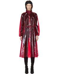 Marine Serre - Red Pvc Raincoat - Lyst