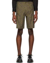Levi's - Brown Cheetah Hi-ball Roll Cargo Shorts - Lyst