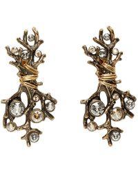 Lanvin - Gold Branch Earrings - Lyst