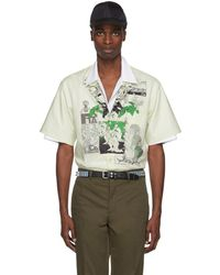 Prada - Green Batista Dna Logo Shirt - Lyst