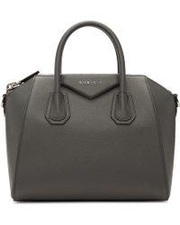 Givenchy Grey Small Antigona Bag - Gray