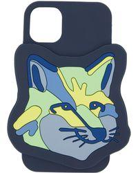 Maison Kitsuné ネイビー Fox Head Iphone 11 ケース - ブルー