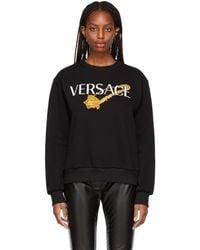 Versace ブラック ロゴ スウェットシャツ