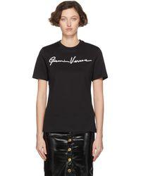 Versace ブラック Gianni エンブロイダリー T シャツ