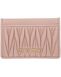 Miu Miu ピンク キルト カード ホルダー